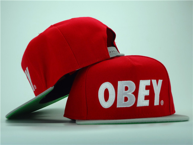 Obey Red Snapback Hat ZY 0701